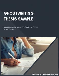 ghostwriting thesis sample